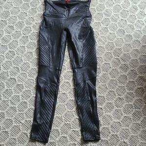 Spanx faux leather moto legging medium